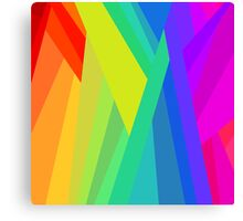 Rainbow Crystals Canvas Print