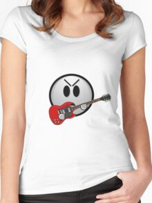 The angry guitar face Women's Fitted Scoop T-Shirt
