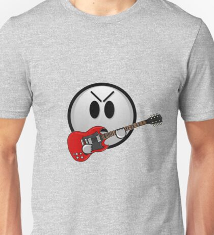 The angry guitar face Unisex T-Shirt