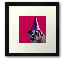 Pink Birthday Pup Framed Print