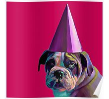 Pink Birthday Pup Poster