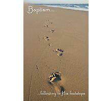 Footprints Baptism Card Photographic Print