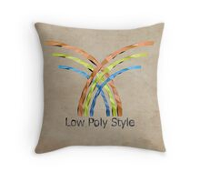 Logo low poly style Throw Pillow
