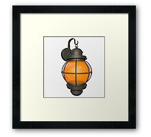 Outdoor lamp Framed Print