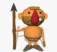 Caveman low poly style by C4Dart