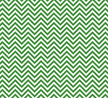 Green Chevron Pattern by TilenHrovatic