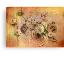 lost time - broken clockwork mechanism Canvas Print