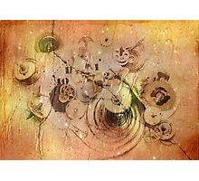 lost time - broken clockwork mechanism Photographic Print