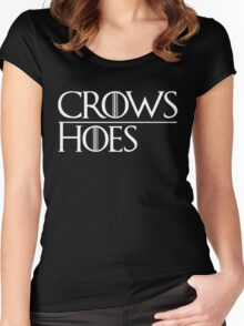 Crows Over Hoes Women's Fitted Scoop T-Shirt