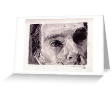 Tears (Benedict Cumberbatch as Van Gogh) Greeting Card