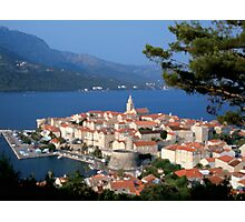 Croatia Harbor Photographic Print