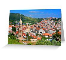 Croatia Stemple Greeting Card