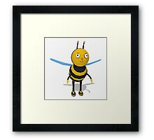 Cartoon bee low poly style Framed Print