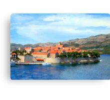 Croatia Inlet Canvas Print