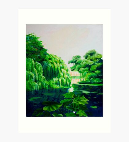 Green swamp Art Print
