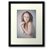 red haired beauty Framed Print