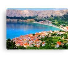 Croatia Portside Canvas Print