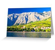Croatia Mountainside Greeting Card