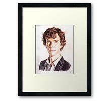 Sherlock - Color Pencils Framed Print