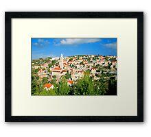 Croatia Cityscape Framed Print