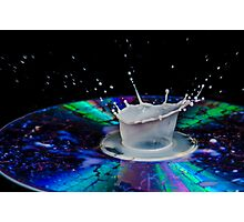 High-speed flash photograph liquid droplet. Photographic Print