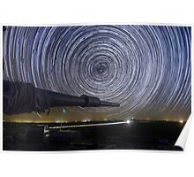 Time-exposure of polar star trails Poster