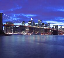 New York City Skyline Blue by JessicaRoss