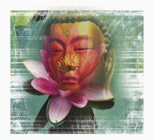 buddha lotus 2 Kids Tee