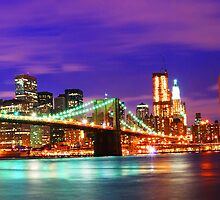 New York City Purple Skyline by JessicaRoss
