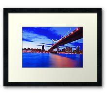 New York City Skyline Bridge Framed Print