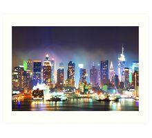 New York City Smoky Skyline Art Print