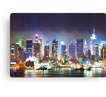 New York City Smoky Skyline Canvas Print