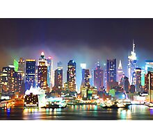 New York City Smoky Skyline Photographic Print
