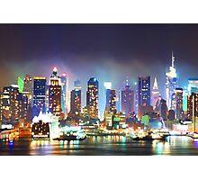 New York City Smoky Skyline Photographic Print