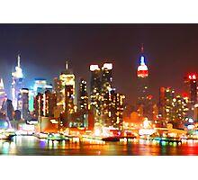 New York City Orange Skyline Photographic Print