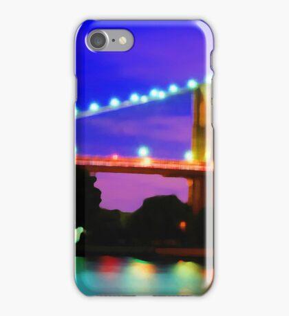 New York City Skyline Purple Bridge iPhone Case/Skin