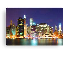 New York City Colorful Skyline Canvas Print