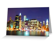 New York City Colorful Skyline Greeting Card