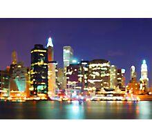 New York City Colorful Skyline Photographic Print