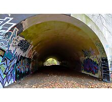Graffiti in a tunnel - Photographic Print