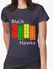 Black Hawks (reverse colors) Womens Fitted T-Shirt