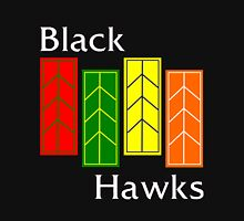 Black Hawks (reverse colors) Unisex T-Shirt