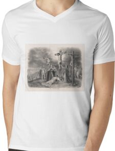 The Crucifixion from painting by Louis Kurz (1907) Mens V-Neck T-Shirt