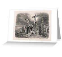 The Crucifixion from painting by Louis Kurz (1907) Greeting Card