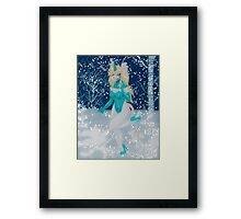 Snowy Mouse Girl Framed Print