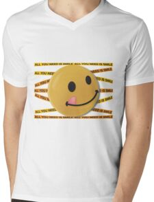 ALL YOU NEED IS SMILE. Mens V-Neck T-Shirt