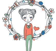 hand-drawn Love by OlgaBerlet