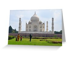 The Taj Mahal India Greeting Card