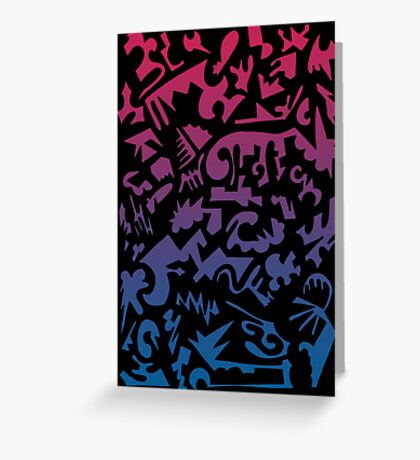 Urban Chaos Pink & Blue Greeting Card