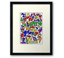 Urban Chaos Colorful Framed Print
